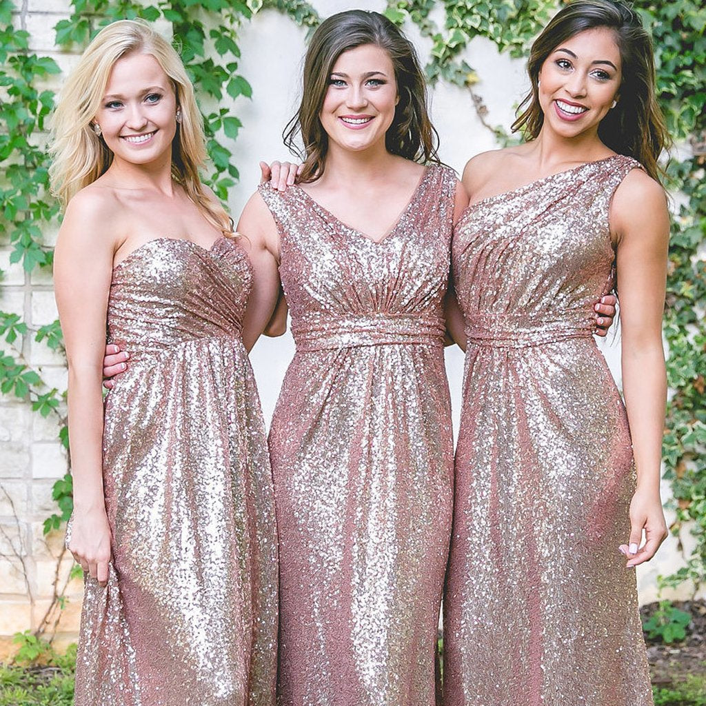 Long Bridesmaid Dress, Mismatched Bridesmaid Dress, Sequin Bridesmaid Dress, Mermaid Dress for Wedding, New Arrival Bridesmaid Dress, Floor-Length Bridesmaid Dress, LB0414