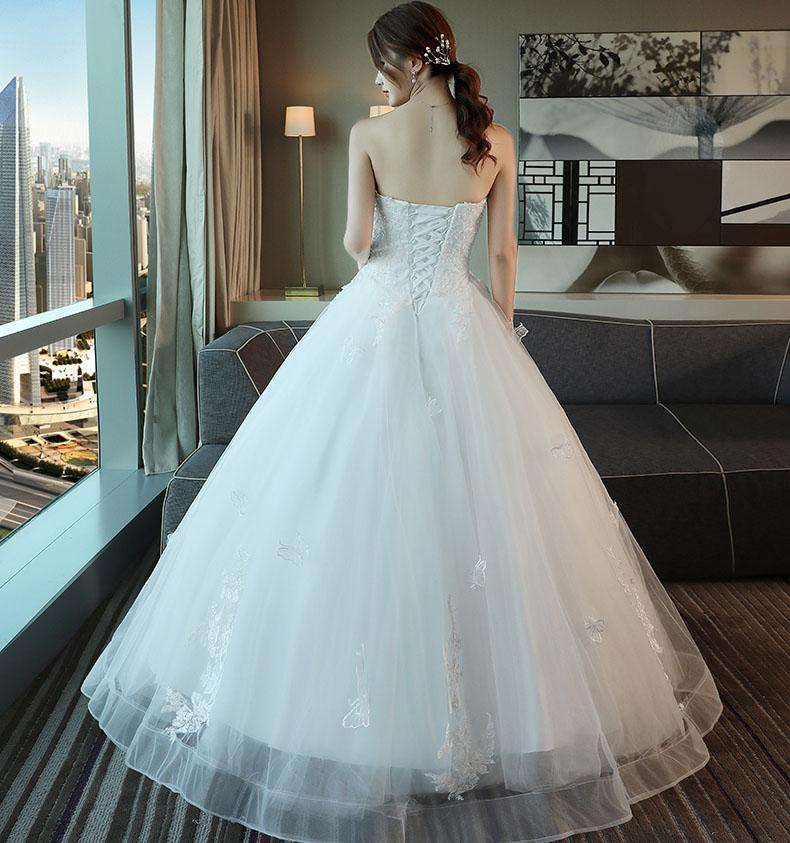 Long Wedding Dress, Sweet Heart Wedding Dress, Tulle Bridal Dress, Applique Wedding Dress, Lace Wedding Dress, Beading Wedding Dress, Floor-Length Wedding Dress, LB0417