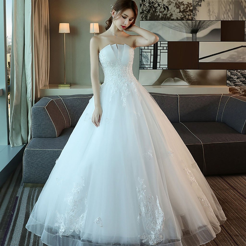 Long Wedding Dress, Sweet Heart Wedding Dress, Tulle Bridal Dress ...