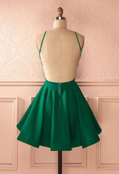 Short Homecoming Dress, Satin Homecoming Dress, Halter Homecoming Dress, Backless Junior School Dress, Knee-Length Homecoming Dress, Sexy Homecoming Dress, LB0432