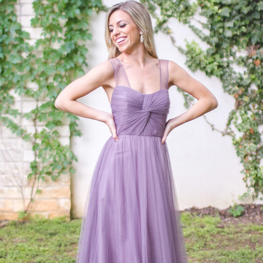 Long Bridesmaid Dress, Sleeveless Bridesmaid Dress, Tulle Bridesmaid Dress, Dress for Wedding, Sweet Heart Bridesmaid Dress, Floor-Length Bridesmaid Dress, LB0436
