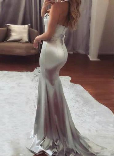 Long Prom Dresses, Satin Prom Dresses, Sexy Party Prom Dresses, Beading Evening Dresses, Sweet Heart Prom Dresses , Backless Prom Dresses, LB0448