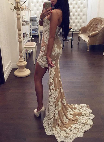 Long Prom Dresses, Lace Prom Dresses, Mermaid Party Prom Dresses, Applique Evening Dresses, Sweet Heart Prom Dresses , Sexy Prom Dresses, LB0454
