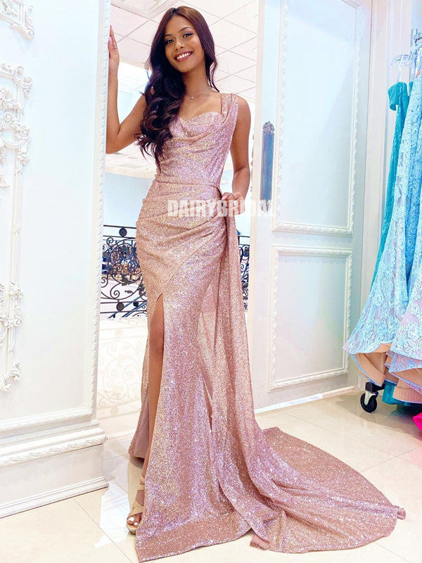 Popular Sequin Mermaid One Shoulder Sweetheart Prom Dress, FC4566