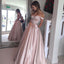 Long Prom Dresses, Satin Prom Dresses, A-Line Party Dresses, Backless Evening Dresses, Off-Shoulder Prom Dresses , Sexy Prom Dresses, V-Neck Prom Dress, LB0468