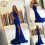 Long Prom Dresses, Jersey Prom Dresses, Mermaid Party Dresses, Side Split Evening Dresses, Sleeveless Prom Dresses , Open-Back Prom Dresses, Sexy Prom Dress, LB0478