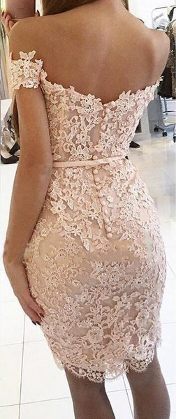 Lace Short Bridesmaid Dresses Off the Shoulder Beaded Sexy Appliques Wedding Party Gown,220050