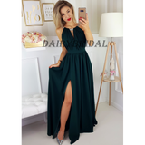 Chiffon Prom Dress, Sleeveless Prom Dress, Side Split Prom Dress, Sexy Prom Dress, A-Line Prom Dress, D50