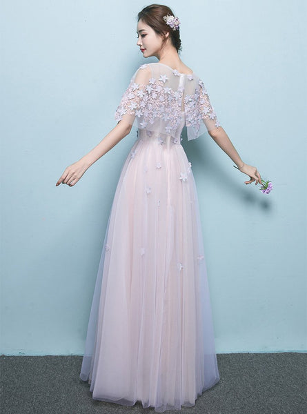 Long Prom Dresses, Tulle Prom Dresses, A-Line Party Dresses, Floor-length Evening Dresses, Honest Prom Dresses , Applique Prom Dresses, Charming Prom Dress, LB0521