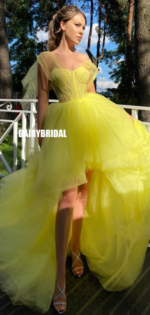 Adorable A-line Tulle High-low Sweetheart Organza Prom Dress, FC5231