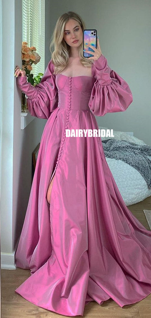 Long Sleeve A-line Special Prom Dress, FC5344