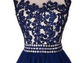 A-Line Sexy  Navy Blue Homecoming Dresses,Sleeveless Applique Rhinestone Cheap Graduation Dresses,220055