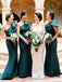 Fashion One-Shoulder Mermaid Backless Long Bridesmaid Dress, FC5830