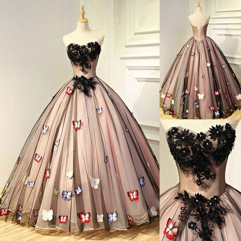Long Prom Dresses, Tulle Prom Dresses, Gorgeous Party Dresses, Applique Evening Dresses, Sweet Heart Prom Dress, Backless Prom Dress, Charming Prom Dress, LB0593