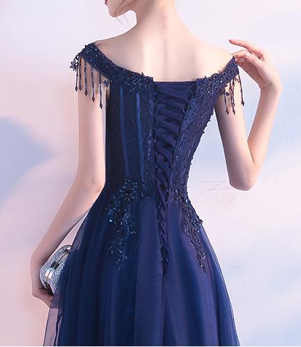 Short Prom Dresses, Tulle Prom Dresses, Beading Party Dresses, Applique Evening Dresses, A-Line Prom Dress, Floor-Length Prom Dress, Gorgeous Prom Dress, LB0609