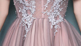 Long Prom Dresses, Tulle Prom Dresses, Off-Shoulder Party Dresses, Applique Evening Dresses, A-Line Prom Dress, Beading Prom Dress, Gorgeous Prom Dress, LB0613
