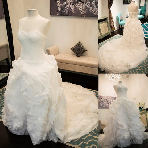 Charming Sweet Heart White Lace Up Unique Long Wedding Dresses, WG615