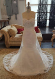 Gorgeous Sweet Heart Beaded Lace On Sale Long Wedding Dresses, WG638