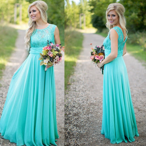 Long Bridesmaid Dress, Sleeveless Bridesmaid Dress, Chiffon Bridesmaid Dress, Dress for Wedding, Lace Bridesmaid Dress, Floor-Length Bridesmaid Dress, LB0682