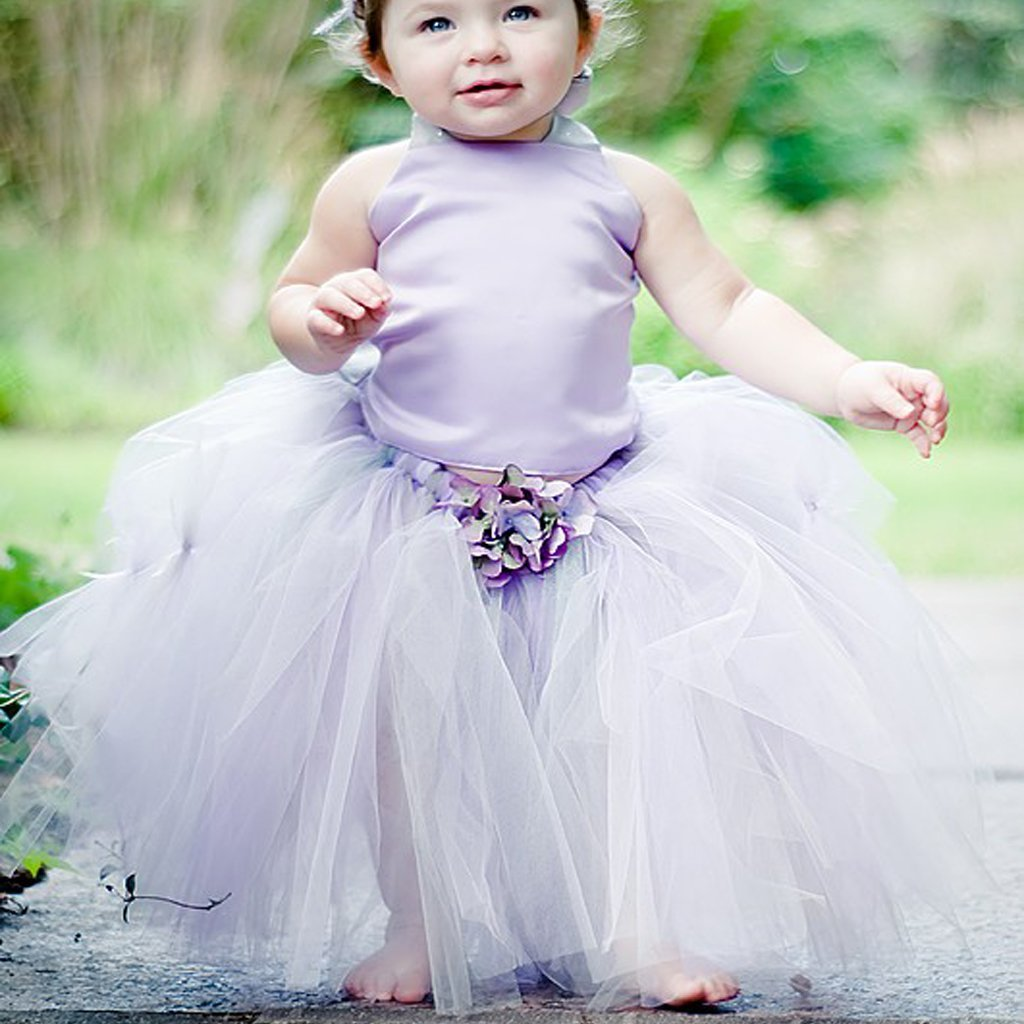 Light Purple Satin Tulle Pixie Tutu Dresses Lovely Cheap Flower