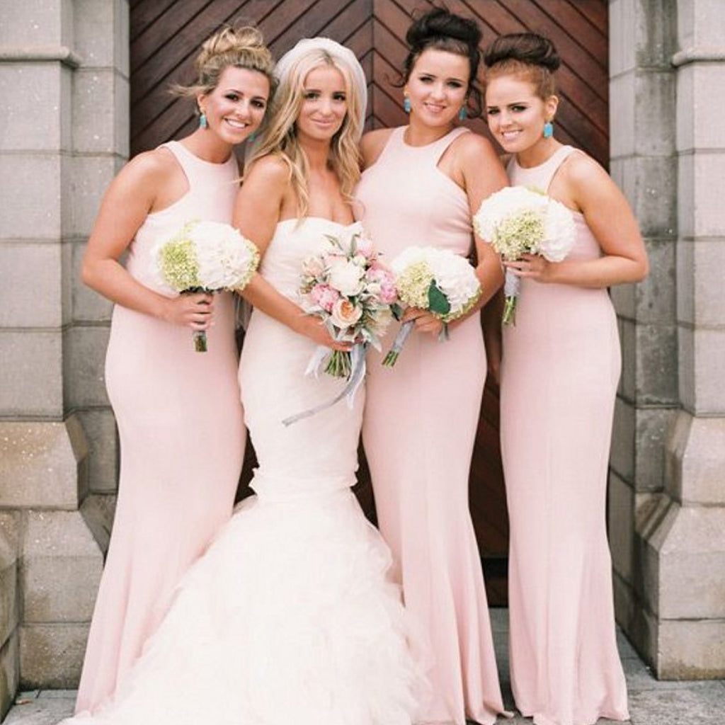 Simple Design Mermaid Bridesmaid Dress, Cheap Double FDY Bridesmaid Dress, D745