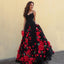 Spaghetti Straps Backless Prom Dress, Charming Applique Lace Prom Dress, D772