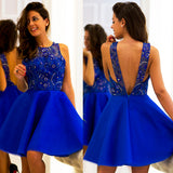 New Arrival Tulle Homecoming Dress, Sleeveless Backless Homecoming Dress, D829