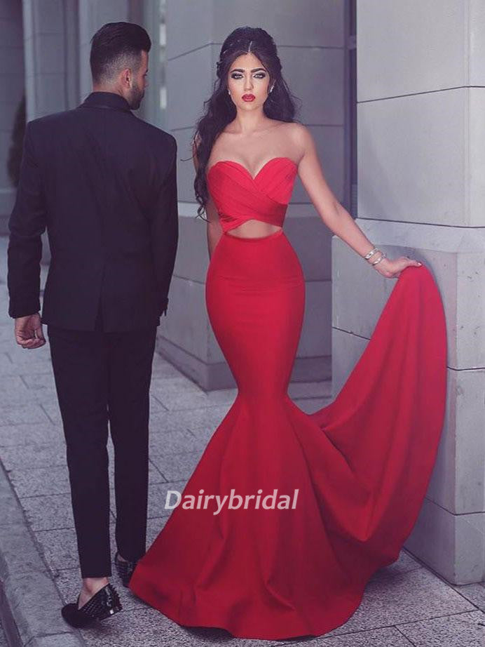 Long Prom Dresses, Satin Prom Dresses, Sweet Heart Prom Dresses, Mermaid Prom Dresses, Sexy Prom Dress, Floor-length Prom Dress, DA861