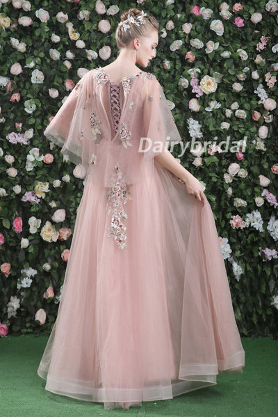 Tulle Prom Dress, Elegant Prom Dress, Beading Prom Dress, A-Line Prom Dress, Applique Prom Dress, DA899