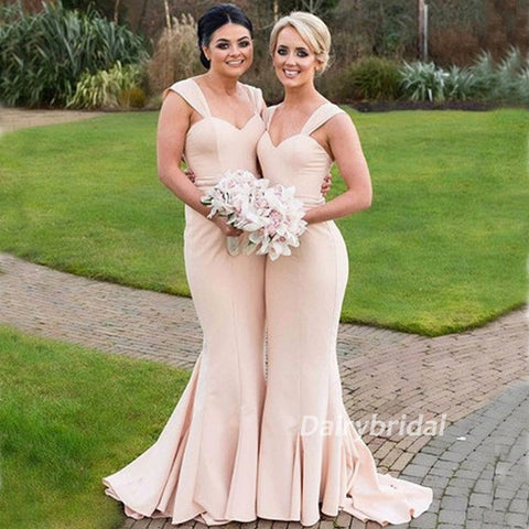 Cheap Bridesmaid Dress, Mermaid Bridesmaid Dress, Sweet Heart Sleeveless Bridesmaid Dress, DA926