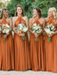 Long Halter Bridesmaid Dress, A-Line Backless Sexy Bridesmaid Dress, D953