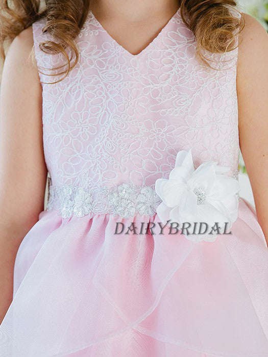 Tulle Lace Flower Girl Dresses, Lovely Cute Tutu Dresses, DA962
