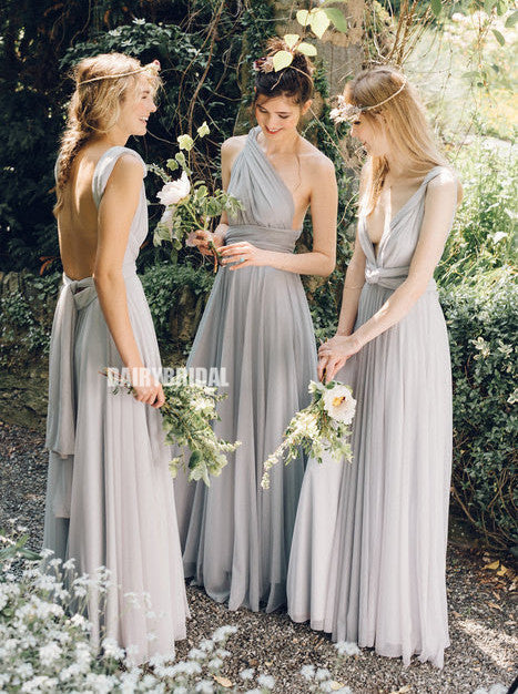 Convertible A-line Backless Jersey Inexpensive Bridesmaid Dress, FC2529