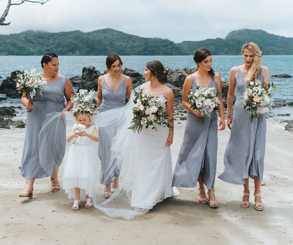 Bridesmaid Dresses with Slit