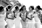 Charming One Shoulder Satin Bridesmaid Dress, Honest Sweet Heart Mermaid Bridesmaid Dress, D1336