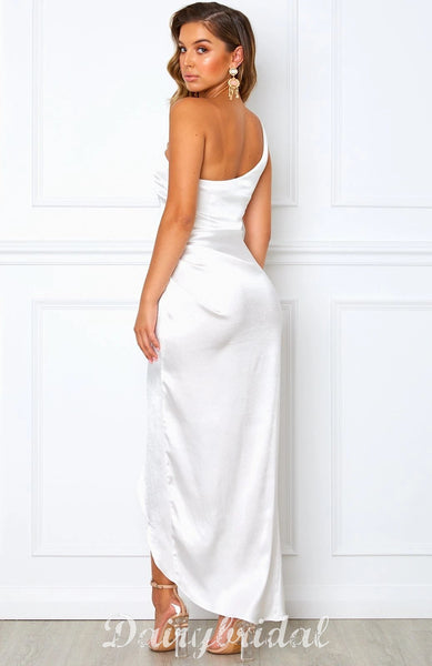 Stunning One Shoulder Backless High-low Bridesmaid Dress, FC4485
