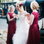 Charming Lace Top Cap Sleeve Bridesmaid Dress, A-Line Jersey Bridesmaid Dress, D1123