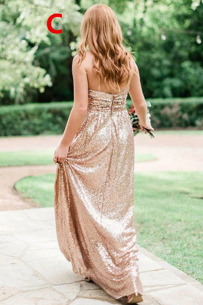 Long Bridesmaid Dress, Sequin Bridesmaid Dress, Mismatched Bridesmaid Dress, Dress for Wedding, Sparkle Bridesmaid Dress, DA851