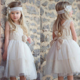 Simple Tulle Flower Girl Dresses, Flower Lovely Little Girl Dresses, D1169