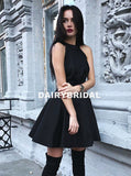 New Arrival Open-Back Homecoming Dress, Cheap Sleeveless Satin Homecoming Dress, D1297
