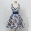 Royal Blue Lace A-Line Homecoming Dress, Sleeveless Tulle Sexy Backless Homecoming Dress, D1312
