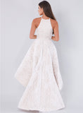 Unique High-Low Sleeveless Homecoming Dress, Charming Lace A-Line Homecoming Dress, D1380