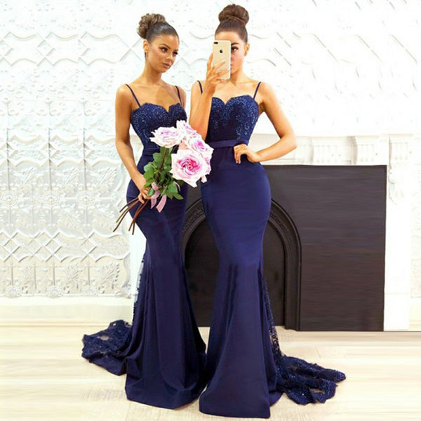 451a6a561ef Royal Mermaid Lace Bridesmaid Dress