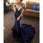 Charming Off Shoulder Velvet Mermaid V-Neck Applique Prom Dresses, FC1930