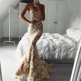 Long Sweetheart Lace Backless Sexy Mermaid Inexpensive Prom Dresses, FC2190