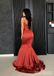 Spaghetti Straps Backless Satin Mermaid Sleeveless Long Prom Dresses, FC1430