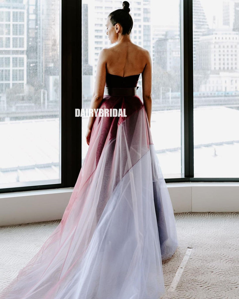 Honest A-line Tulle Simple Long Prom Dress, FC5300