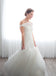 Off Shoulder Mermaid Tulle Backless Pleated Wedding Dresses, FC1790