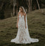 Lace Sleeveless V-neck Backless Long Mermaid Wedding Dresses, FC1862