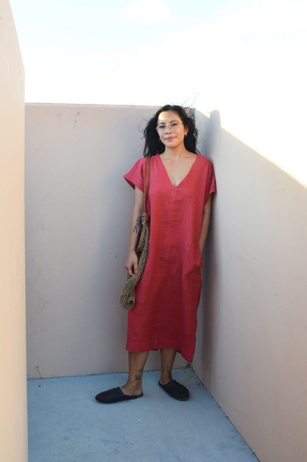 Shop on the Mesa - Sleeveless Caftan Dress in Paprika